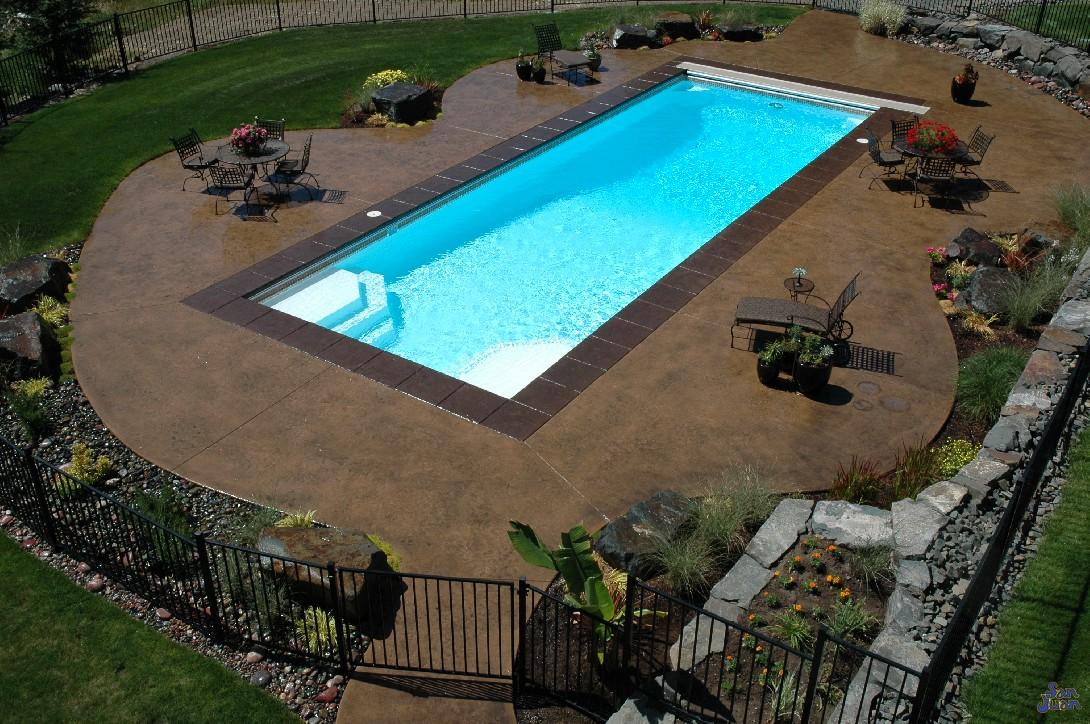 Deep Backyard Pool fiberglass pools quote