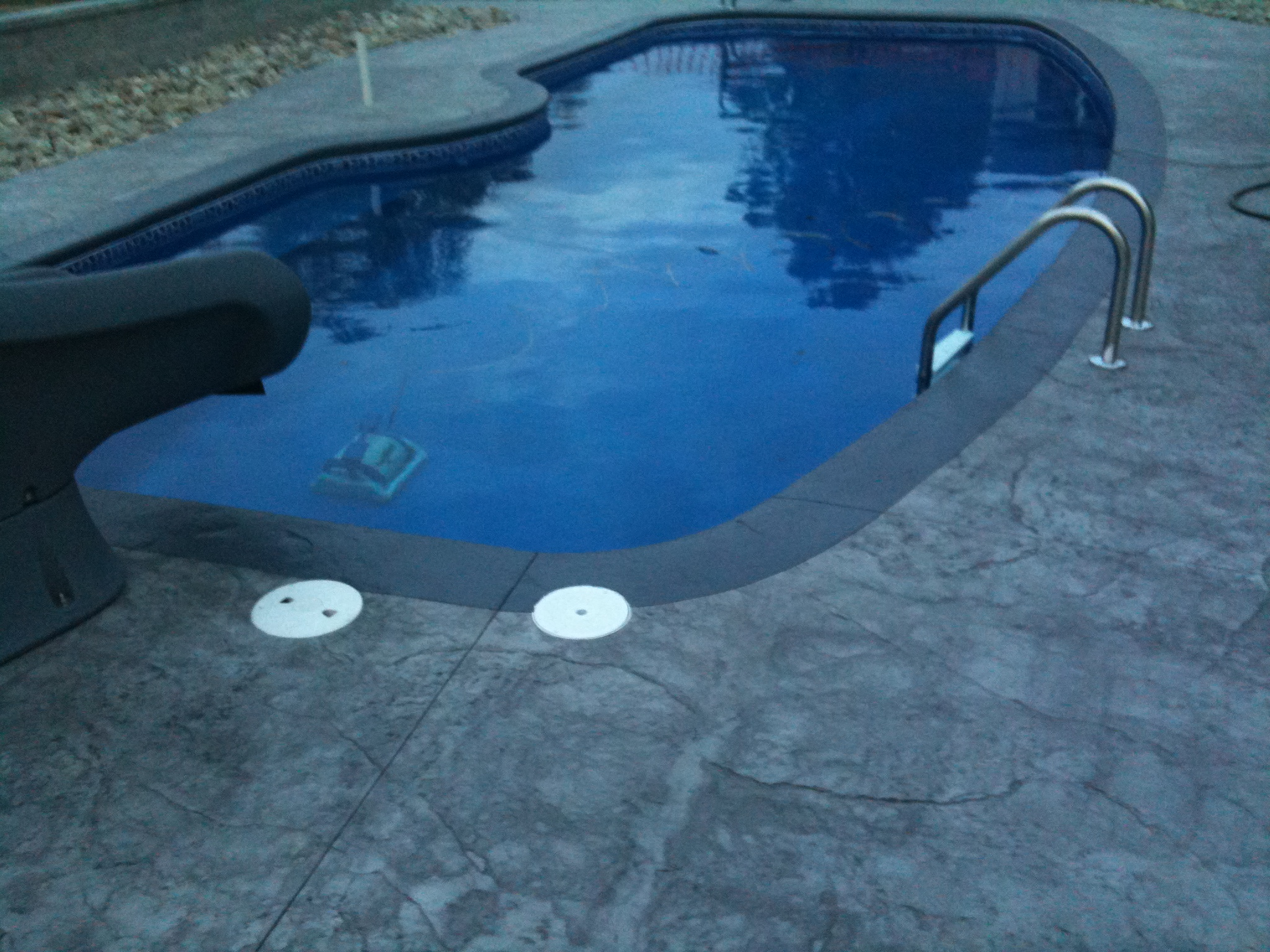 Stamped Concrete Around Pool Beauteous Adding Custom Borders To Stamped Concrete  Fiberglass Pools