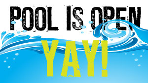 Image result for pool is open sign